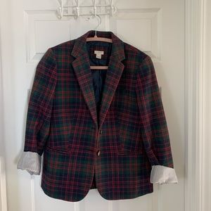 J crew Christmas plaid blazer